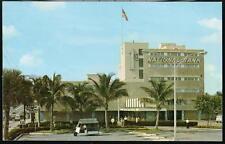 Fort Lauderdale Fl First National Bank Vintage Postcard