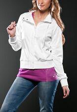 Women's Oakley Czarina Full Zip Tricot Fleece Jacket Coat White Size Small S