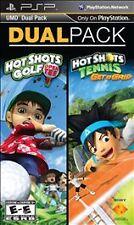 PSP Dual Pack Hot Shots GOLF: Open Tee + Hot Shots TENNIS: Get a Grip - NEW™
