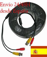 CABLE BNC VÍDEO + ALIMENTACIÓN 30 METROS DVR CCTV