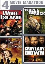 4 MOVIES-WAKE ISLAND-HELL & BACK-BATTLE HYMN-GRAY LADY DOWN/DVD/BUY 4 SHIP FREE
