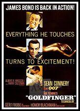 Goldfinger 5 British Movie Posters Classic Vintage & Films