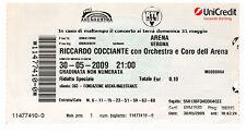 RICCARDO COCCIANTE - Ticket Concert ORCHESTRA E CORO TOUR 2010 ARENA VERONA
