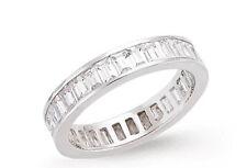 Ganzer Ewigkeitsring Baguette Jubiläum Ring Sterlingsilber Platinum Überzogen