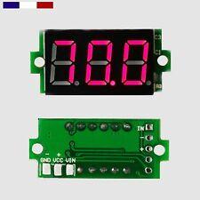 """Mini afficheur Voltmètre de tableau 0-100V - 0.36"""" 0.91cm avec ou sans cover"""