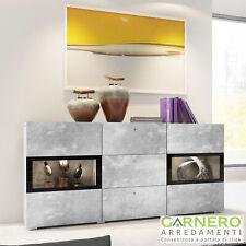 Credenza moderna EMOTION Gihome ® cemento mobile madia buffet design led vetrina