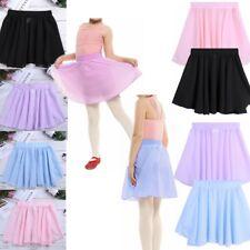 Girls Ballet Dance Wrap Pull On Skate Skirt Mini Leotard Tutu Dress Dancewear