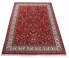 Orientteppich Indo Tabriz, handgeknüpft, 100% Schurwolle, Durchgemustert in rot