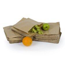 "Brown 10"" x 10"" Kraft Flat Strung Paper Bags Food Sandwich Grocery Bag"
