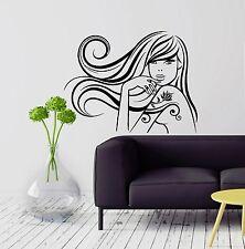 Wall Decal Beautiful Teen Girl Beauty Salon Hair Spa Vinyl Stickers (ig2972)