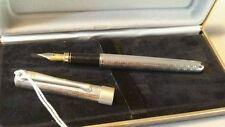 Penna stilografica argento massiccio  2 varianti. Fountain pen by Davide Tessari