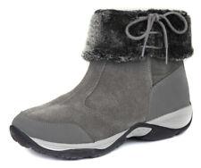 Easy Spirit Women's Grey Elementa Suede Fur Ankle Bootie Shoes Ret $99 New