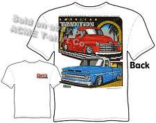 Chevy T Shirts Chevrolet Clothing Pickup Truck Tee 47 48 49 50 51 52 53 62-66
