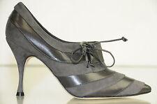 NUEVO MANOLO BLAHNIK TRIFULCA Ante Gris Zapatillas botines Zapatos 36