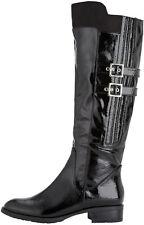 Lotus Arabian Knee High Boot Black Crinkle Shiny Buckle Detailing £34.99