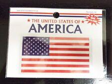 "2""x4"" Reflective American Flag Decals Car Bumper Stickers Vinyl USA 3M"