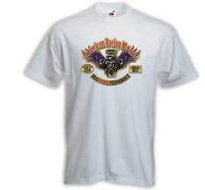Hot Rod T-Shirt Racing Motors weiß Rockabilly V8 Custom Dragster
