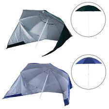 Sombrilla de Playa Portátil con Panel Lateral tipo Parasol para Protección Solar