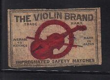 Ancienne étiquette Allumettes Japon AAA682 Violon