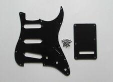 Strat Pickguard,Trem Cover and Screws SSS Black 3 Ply !
