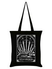 Deadly Tarot Tote Bag Ten Of Swords Black 38x42cm