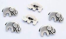 6 bottoni in metallo serie animali - ELEFANTE - elephant buttons