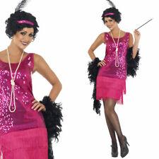 Pink Flapper Dress 1920s Fancy Dress Costume