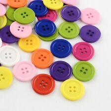 10 Kunststoffknöpfe Kleiderknöpfe Mantelknöpfe Jackenknöpfe 22 mm rot blau gelb
