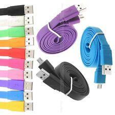 1m 2m 3m flat noodle câble de chargeur USB Micro pour Samsung Galaxy S2 S3 S4 No...