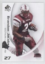 2010 Sp Authentic #10 Brandon Jacobs Southern Illinois Salukis Football Card