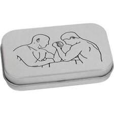 'Arm Wrestling' Metal Hinged Tin / Storage Box (TT019305)