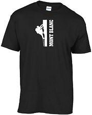 # 5 Rock climb Climber Mont Blanc mountain t-shirt