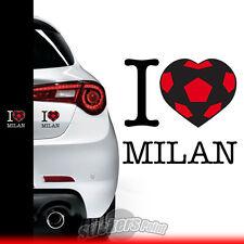 adesivo I LOVE MILAN sticker PVC auto squadre calcio serie A