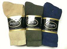 9  Pair Non-Binding Top DIABETIC Mixed Colors Crew Sock Size10-13, USA .