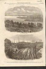 12/6/1862 #01-0078 ANTIQUE PRINT (CANADA) - NOVA SCOTIA GOLD FIELDS - HALIFAX