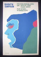 Rare ORIGINAL 1969 Cuban Silkscreen Poster for Japanese Karate Movie CUBA JAPAN