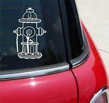 Fire Hydrant Fireman Department Graphic Decal Sticker Art Car Wall Decor