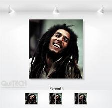 Bob Marley - 10 - Quadro stampa su Tela Pelle Canvas Dipinto Arte Moderna