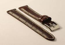 Orologi BRACCIALE-imitazioni - 18mm-contrasto cuciture-Croco-Grain-Genuine Leather-CONTR-cucitura