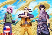 "Sasuke Naruto Sakura 36"" x 24"" Large Wall Poster Print Fan Art Anime #01"