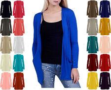Ladies Plus Size Boyfriend Cardigan Top Long Full Sleeve With Pockets UK 8-24