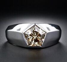 Size 8,9,10,11 Solitaire D/VVS1 Diamond Fashion White 14K Gold Filled Mens Ring