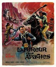Apache rifles Audie Murphy western movie poster print
