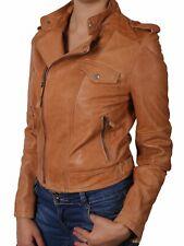 New Stylish Women's 100% Genuine Lamb Biker Bomber Ladies Leather Jacket # KL281