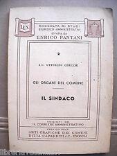 IL SINDACO Ottorino Checchi Caparrini Gli organi del comune 2 Giuridica Manuale