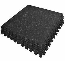 Large Rubber Mat Fitness Puzzle Exercise Yoga Garage Gym Home Interlocking Tiles