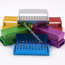 30 Pcs Dental Diamond Burs Drill + Disinfection Bur Block High Speed Handpiece