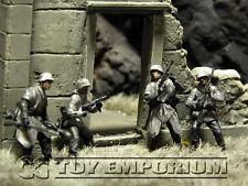 """Custom Built 1:35 WWII German """"Winter"""" Infantry  Western Europe  Soldier Set (4)"""