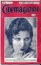 CINEMAGAZINE n°23 Alphonse Daudet EVELYN BRENT 1929