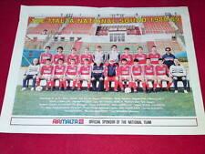 MALTA FOOTBALL TEAM POSTER 1988 (28x21cm)